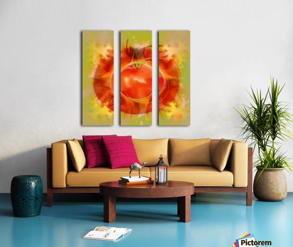 Illustration Of Tomato Split Canvas print