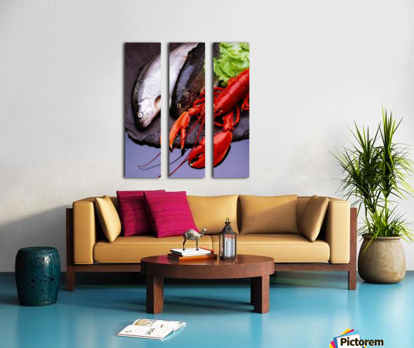 Lobster And Trout Split Canvas print