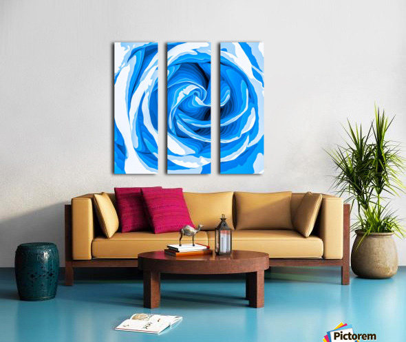 closeup blue rose texture abstract background Split Canvas print
