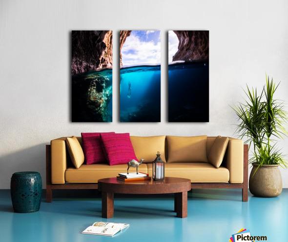 Cave diving Split Canvas print