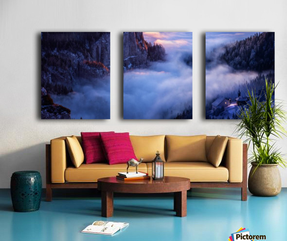 Alone Against all Darkness II Split Canvas print