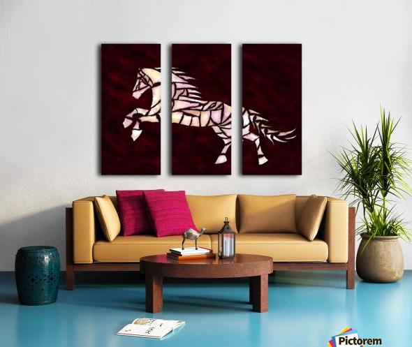 Cavallerone - white horse Split Canvas print