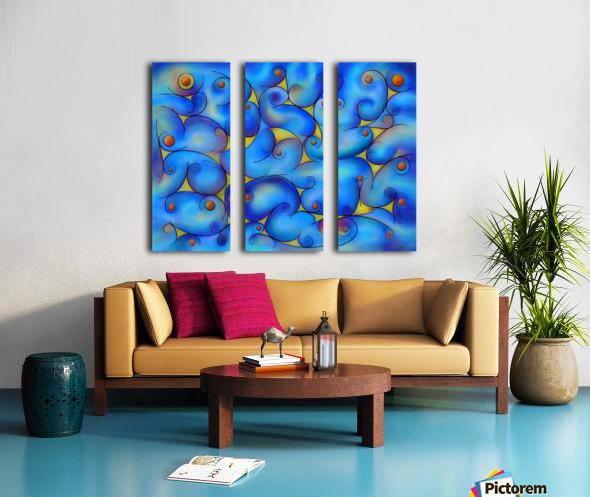 Supliussa - Milky way Split Canvas print