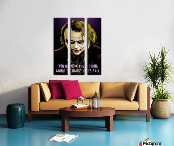 The Joker Says Split Canvas print