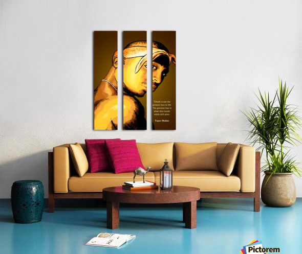 Tupac Split Canvas print