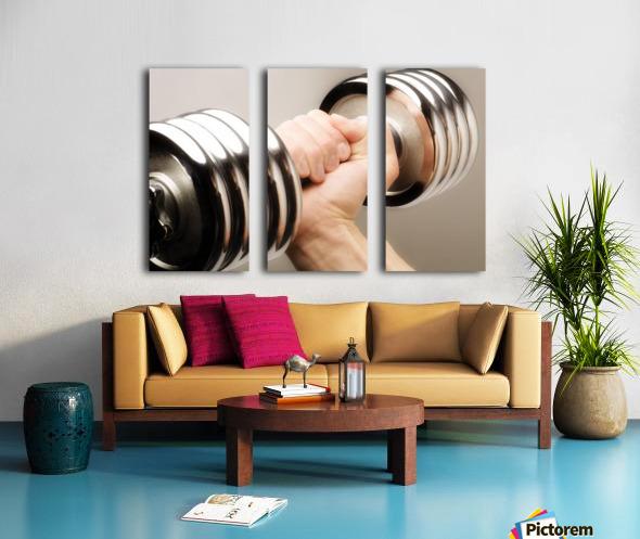Lifting Weights Split Canvas print