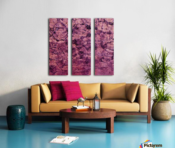psychedelic grunge painting abstract texture in pink Split Canvas print