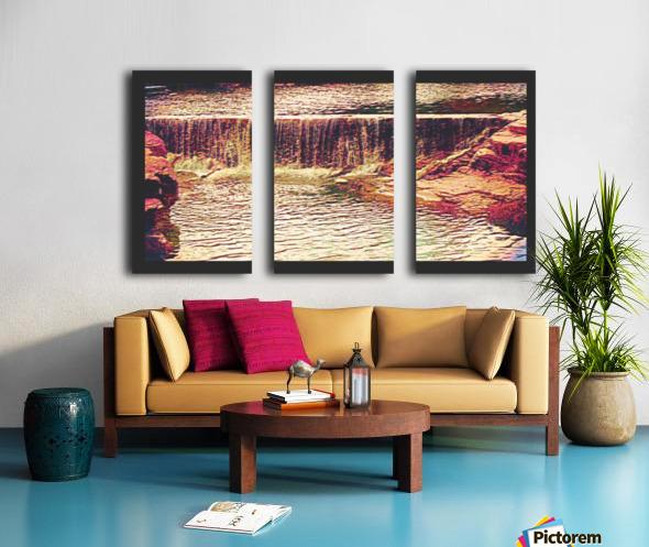Medicine Park waterfall pic art Split Canvas print