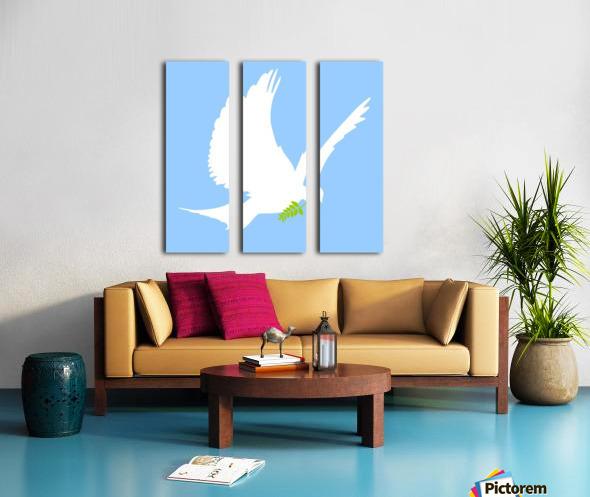 Dove And Olive Branch Split Canvas print