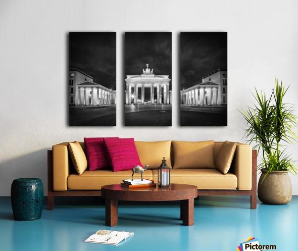 BERLIN Brandenburg Gate   Monochrome Split Canvas print