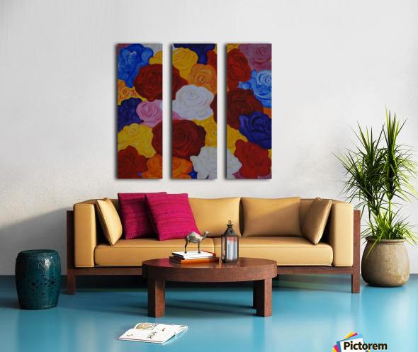 Colorful roses Split Canvas print