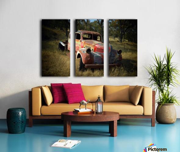 Abandoned Dodge Truck Split Canvas print