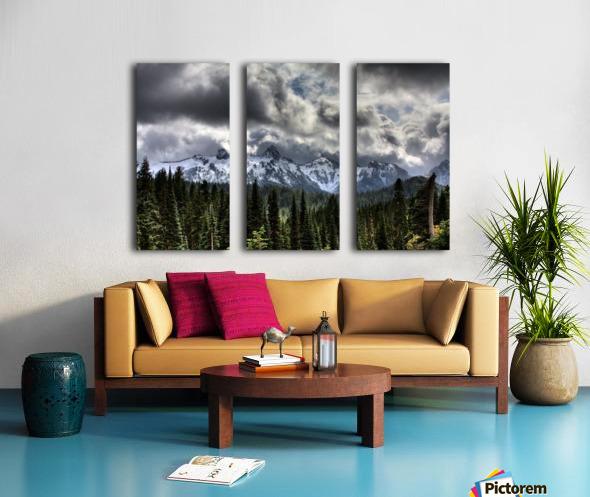 Storm Clouds, Mount Rainier, Pierce County, Washington Split Canvas print