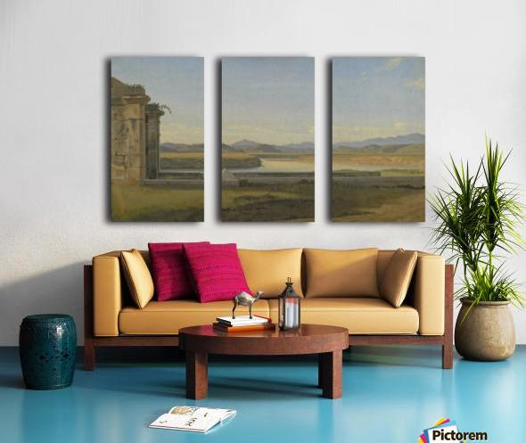 Landscape near Hamburg Split Canvas print