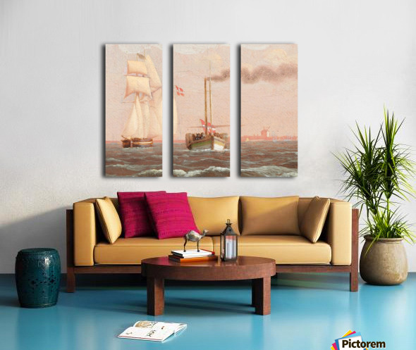 Danish paddle steamer Split Canvas print