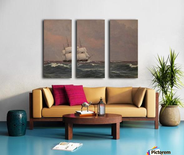 The corvette Najaden in rough seas Split Canvas print