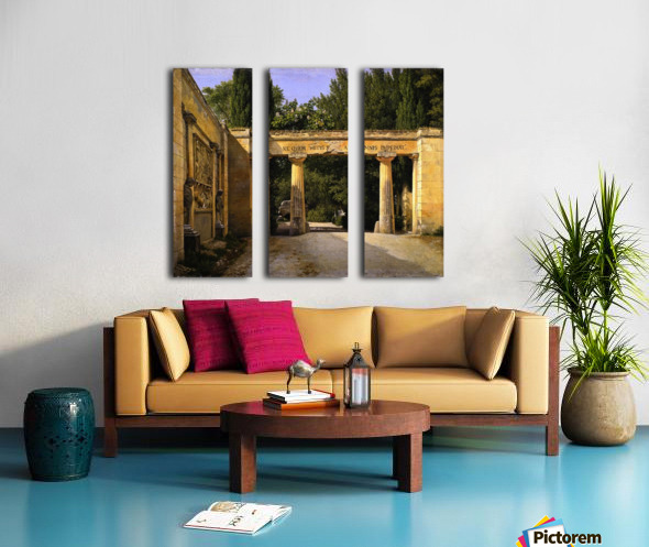 View of the Garden of the Villa Borghese in Rome Split Canvas print