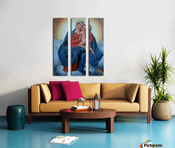 Maria med Jesusbarnet Split Canvas print