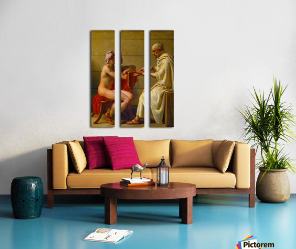 Socrates and Alcibiades Split Canvas print