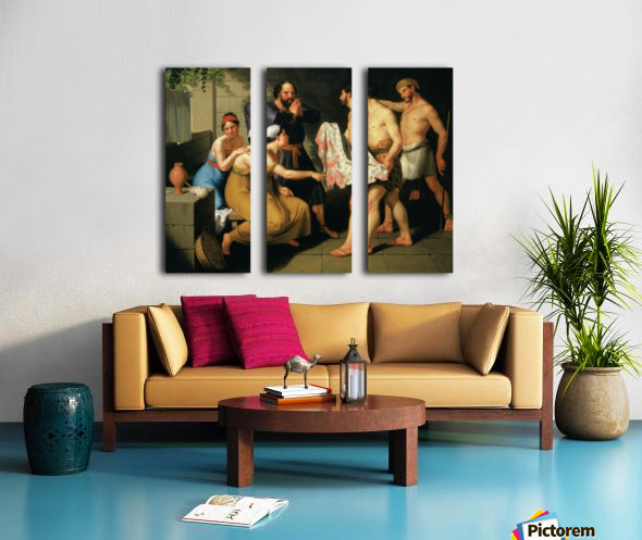 Joseph's brothers bring his coat to Jacob Split Canvas print