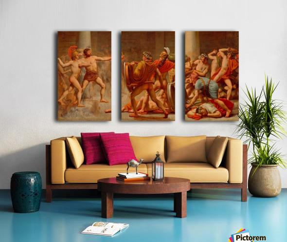 Ulysses revenge on Penelopes suitors Split Canvas print