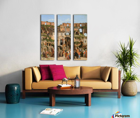 View of the interior of the Colosseum Split Canvas print