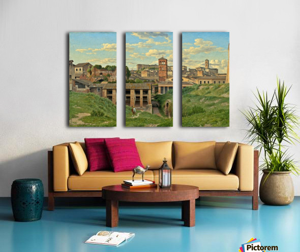 View of the Cloaca Maxima, Rome Split Canvas print