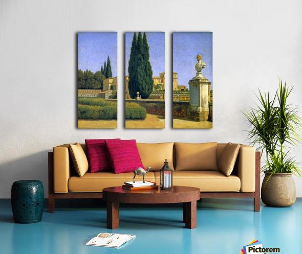 In the Gardens of the Villa Albani Split Canvas print