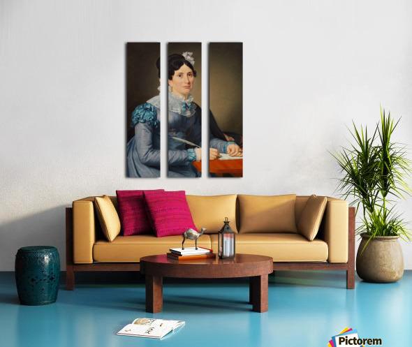 Portrait of Sarah Wolff Split Canvas print