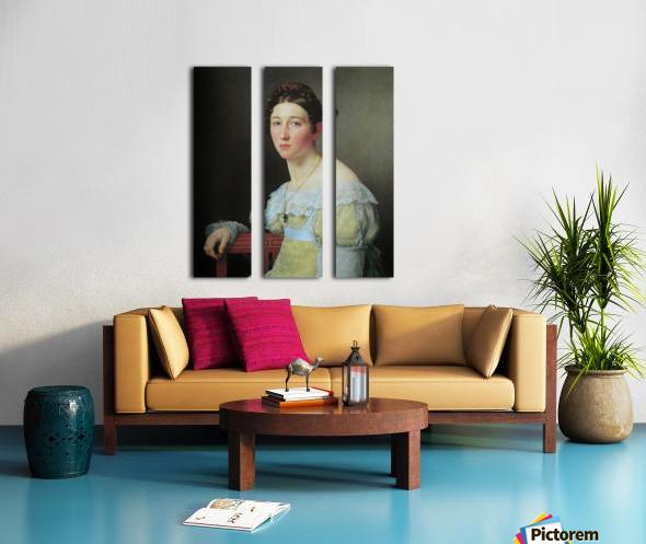 Portrait of Emilie Henriette Massmann Split Canvas print