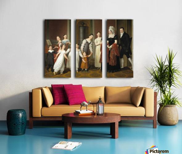 The Nathanson Family Split Canvas print