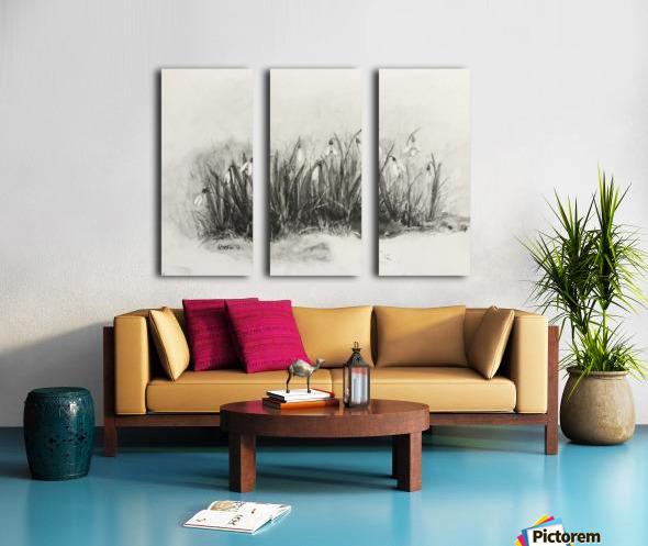 Snowdrops Split Canvas print