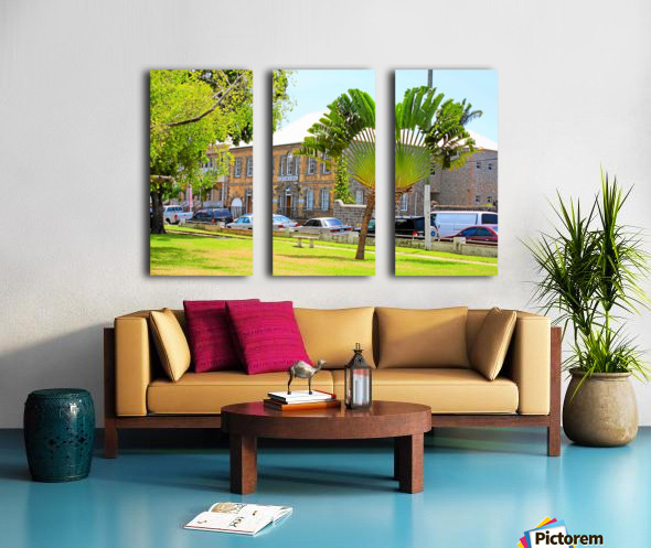 St Kitts Independence Square 3 Split Canvas print