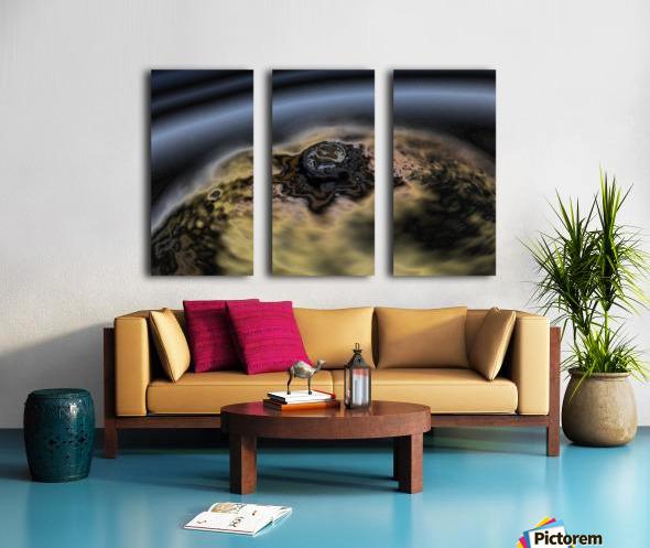 aerial view of planet citrrus rings Split Canvas print