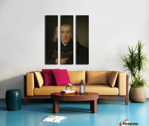 Portrait of Gedalia Moses Split Canvas print