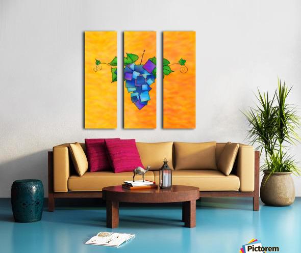 Jamurissa - square grapes Split Canvas print