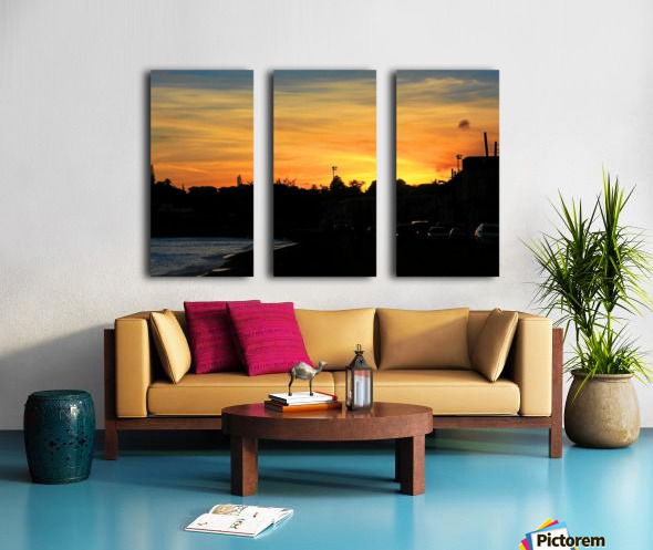 St Kitts Basseterre sunset Split Canvas print