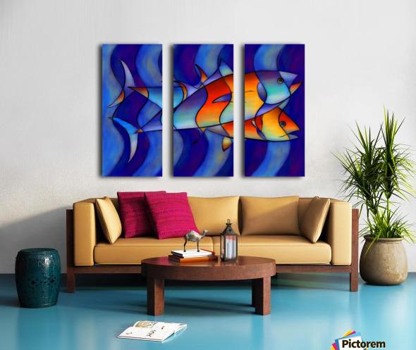 Cassanella - dream fish Split Canvas print