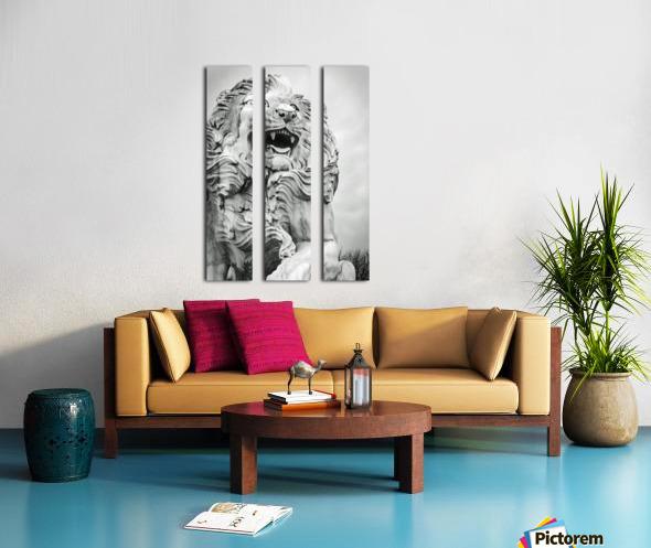 King of the Beast Split Canvas print