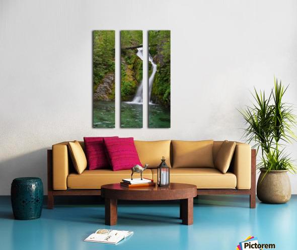 Full view of Sullivan Falls in the Opal Creek Wilderness, Oregon Split Canvas print