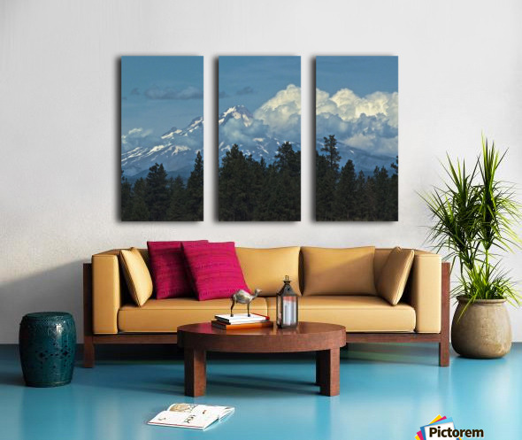 Mt Hood & Clouds Split Canvas print