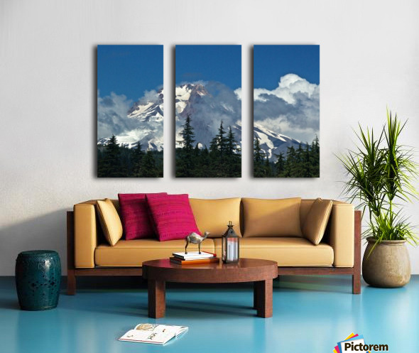 Clouded Peak-Mt Hood Split Canvas print