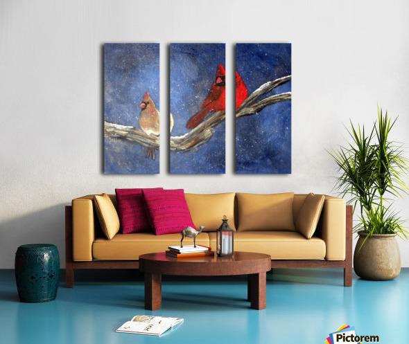 Cardinals Split Canvas print