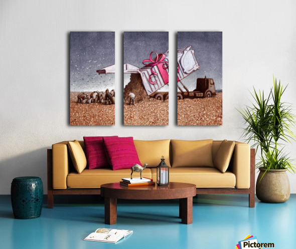 surprise Split Canvas print
