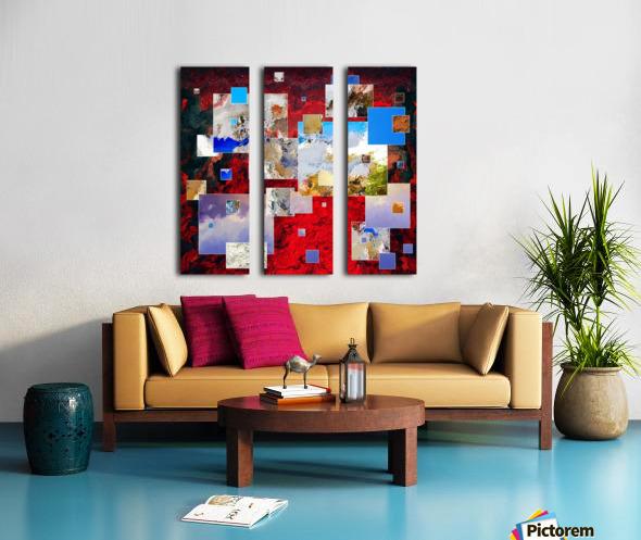 Espanissia - square flowers Split Canvas print