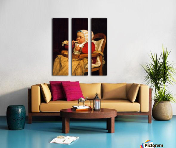 The LIttle Musician Split Canvas print