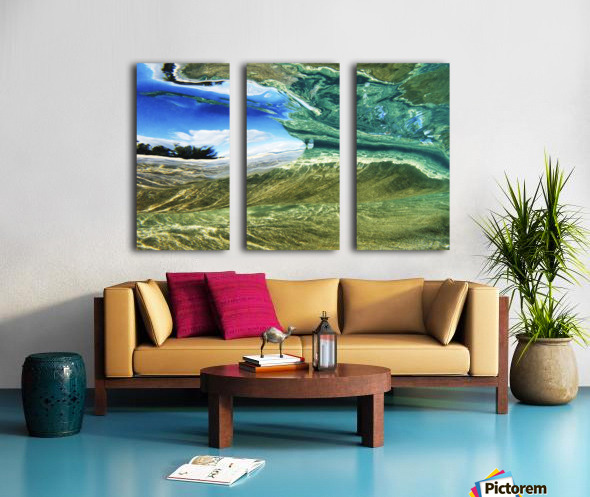 Hawaii, Oahu, Underwater View Of Wave. Split Canvas print