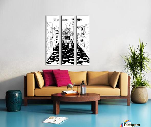 struggle Split Canvas print