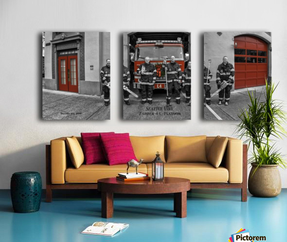 Seattle Fire Department Station 2, Ladder 4 C Colored Doors Split Canvas print