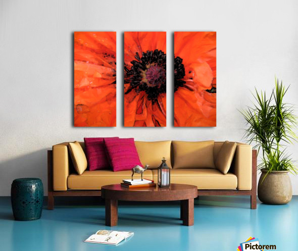 poppies will make you sleep Split Canvas print